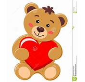 Bear Cub Holding A Heart With Love Stock Vector  Image
