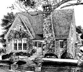 English Stone Cottage House Plans White Picket Fences Floor Plan Friday Hillstone Cottage
