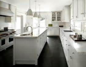 White Kitchen Floor Ideas by Black Slate Kitchen Floor Design Ideas
