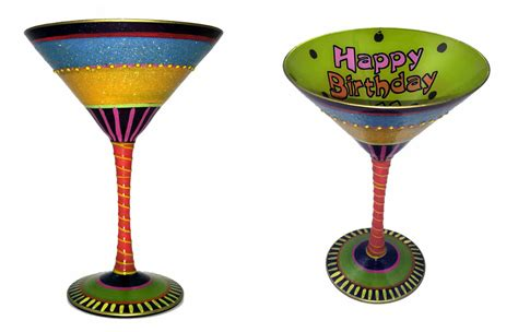 martini glass painting 21st birthday hand painted reverz art martini glass