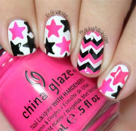 easy nail art black and pink simple nail art designs pink and black nail art ideas