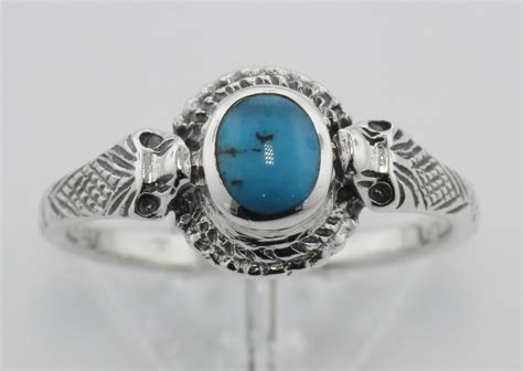 turquoise cobra snake ring sterling silver r 1102 silver