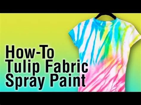 how does it take for spray paint to how to use tulip fabric spray paint