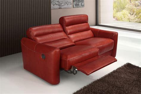 red leather reclining sofa estro salotti levante modern red leather sofa set