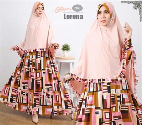 model baju muslim warna peach model busana muslimah setelan gamis syari busui modern terbaru