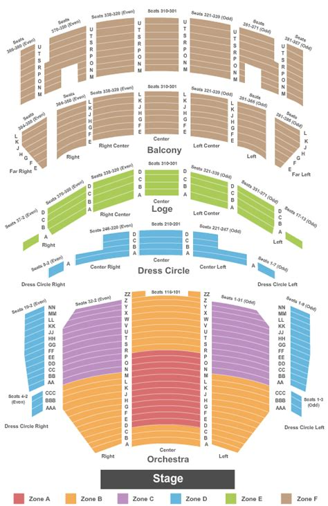 theatre seating chart theatre