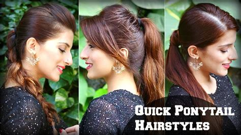 3 cute easy everyday hairstyles with ponytails for school college work priyanka chopra
