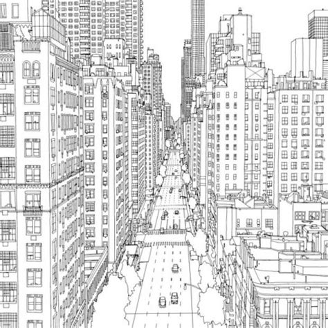 coloring book new york city fantastic cities 48 page coloring book made for