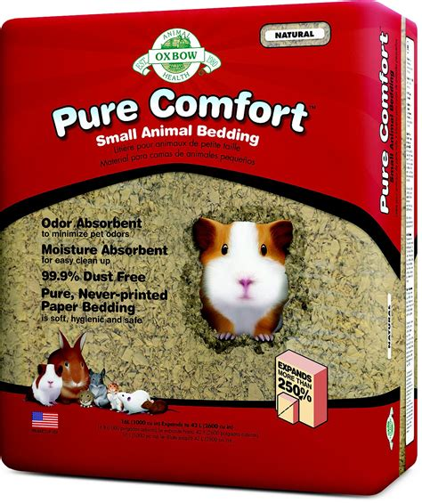 small animal bedding oxbow pure comfort small animal bedding natural 42 l