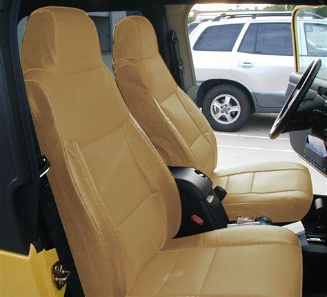 wrangler seat covers leather jeep wrangler 03 06 beige leather like custom made fit