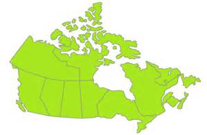 simple map of us and canada canada map simple