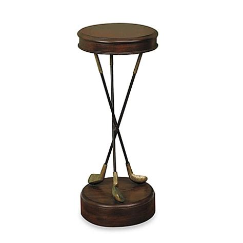side table accent table vintage whimsical golfer s masterpiece golf themed accent table bed bath beyond