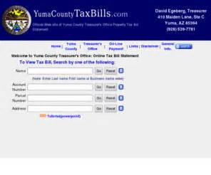 Yuma County Property Records Yumacountytaxbills Yuma County Property Tax Statement