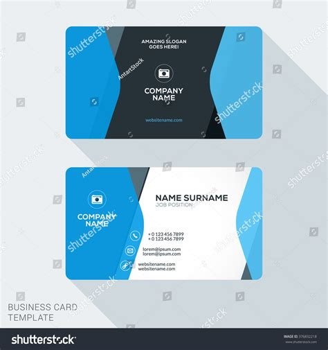 business card appointment clean template design illustrator creative clean corporate business card template stock