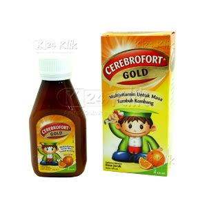 Vitamin Cerebrofort Gold Jual Beli Cerebrofort Gold Orange 100ml K24klik