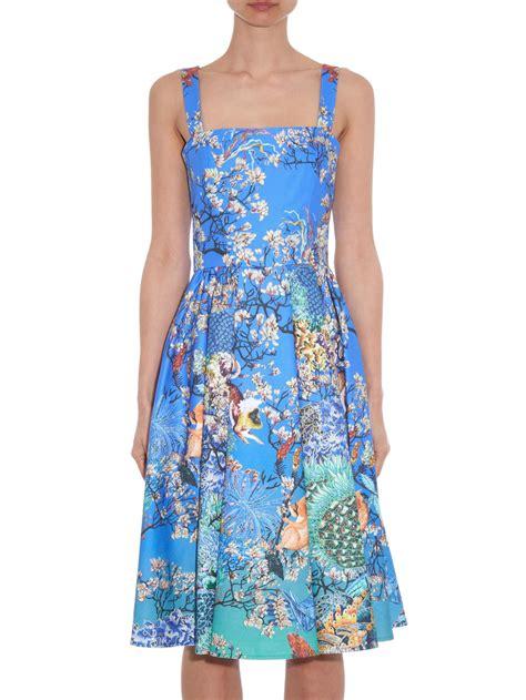 Ramora Dress katrantzou favry ramora print dress in blue lyst