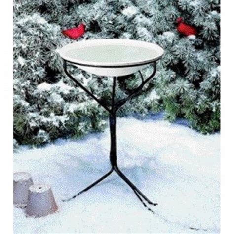 heated bird bath with stand