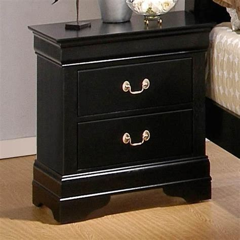 black chest of drawers and nightstand louis philippe deep black wood nightstand steal a sofa