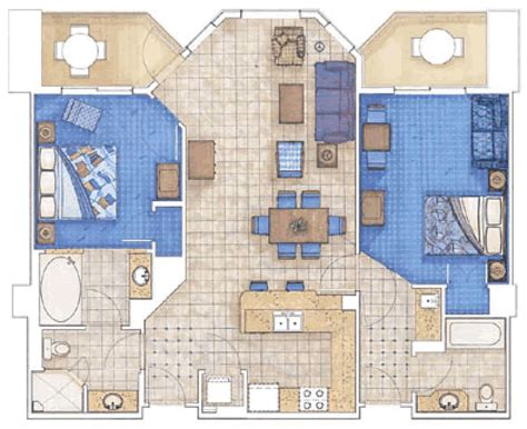 marriott aruba surf club 3 bedroom floor plan placeholder