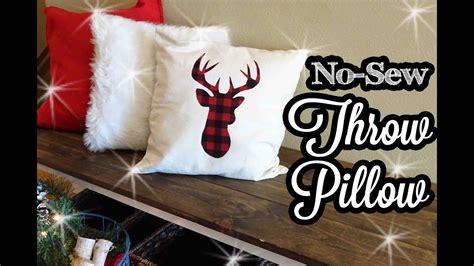 No Sew Throw Pillows - no sew decorative throw pillow
