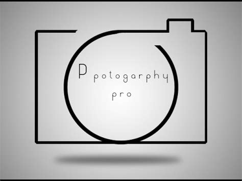 How To Design A Photography Logo Sle In Photoshop Youtube Free Photography Logo Templates For Photoshop