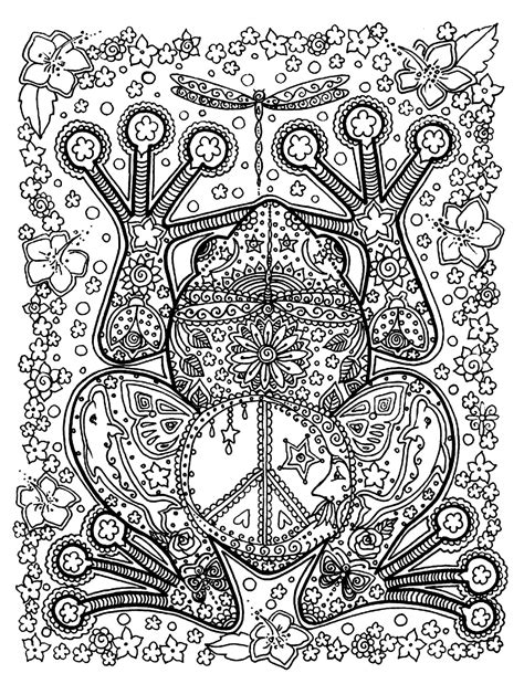 Coloring Pages For Adults Full Page | free coloring page coloring adult animals big frog a big
