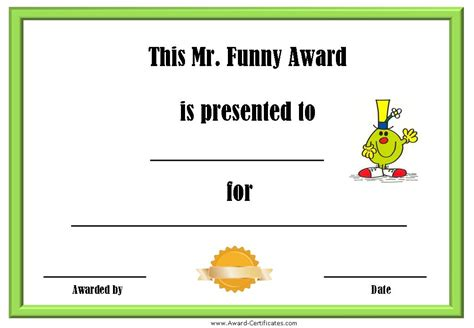 silly certificates awards templates employee award certificate templates