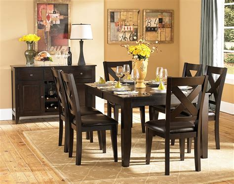 willard 7 pc dining table set