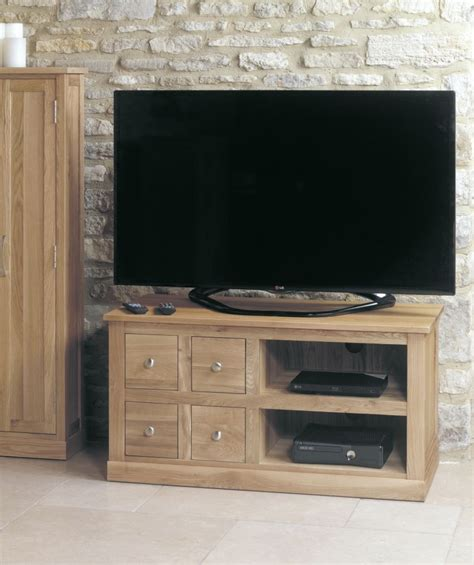 tv cabinet with drawers buy baumhaus mobel oak 4 television cabinet online