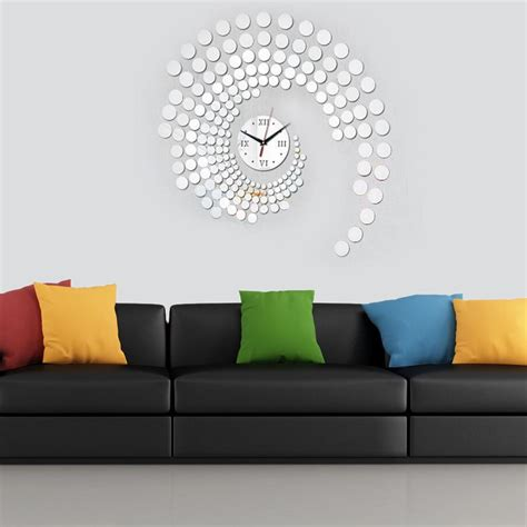 home interior wall decor using oversized wall clocks to decorate your home in wall
