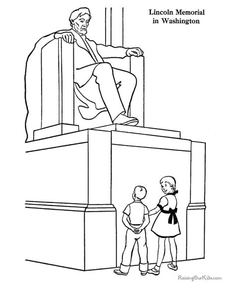 Lincoln Coloring Page lincoln memorial coloring page coloring pages