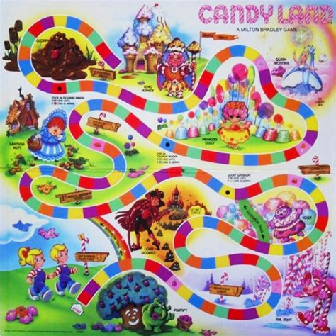 online land layout candyland party by prettyaunt78 on pinterest candy land