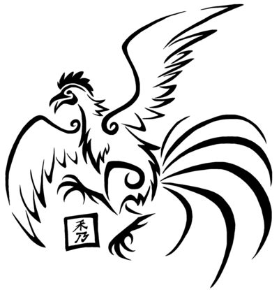 flying chicken tattoo flying rooster drawing www pixshark images