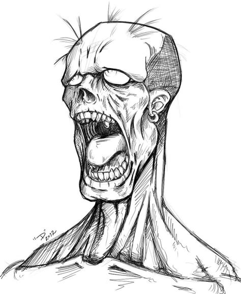 simple zombie tattoo image result for zombie drawing monsters pinterest
