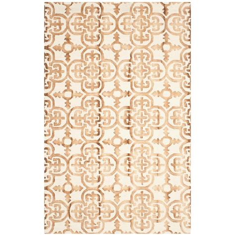 can you dye an area rug safavieh dip dye ivory camel 6 ft x 9 ft area rug ddy711e 6 the home depot