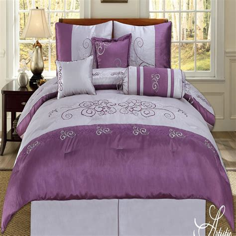plum comforter terryville plum lilac 7 piece king comforter bed in a