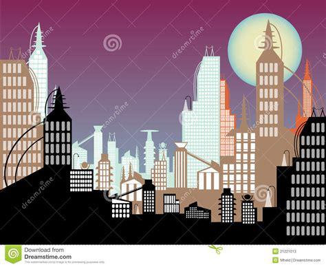 dream colorea imagina suea 8448845889 el extracto futuro del paisaje urbano colorea la luna crepuscular fotos de archivo imagen