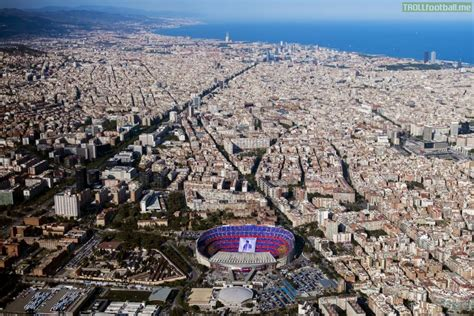 barcelona aerial view aerial view of barcelona while in the c nou the