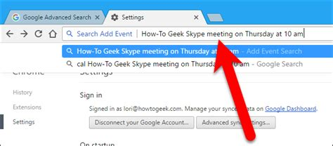 Search In Address Bar How To Add Events To Your Calendar Using The Address Bar In Chrome