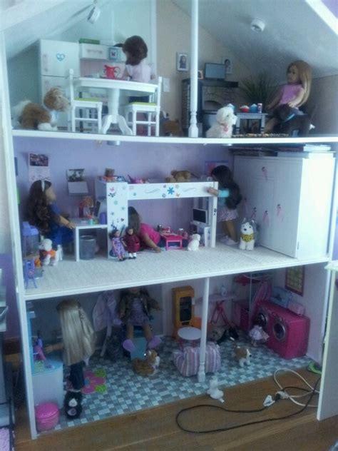 girls doll houses american girl doll house kassidys ag dollhouse pinterest