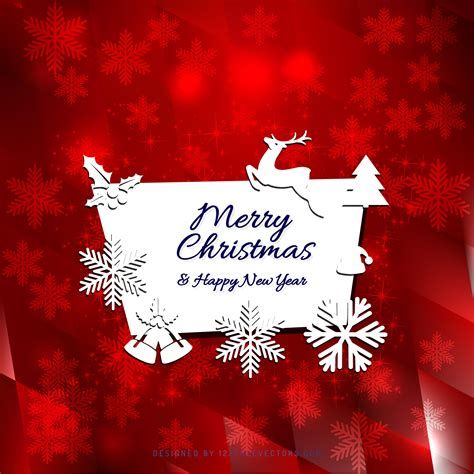 merry christmas  happy  year greeting card template