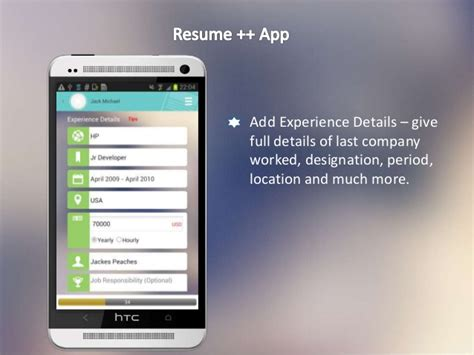 Resume Android App Resume A Resume Developer Android App Amazing Features