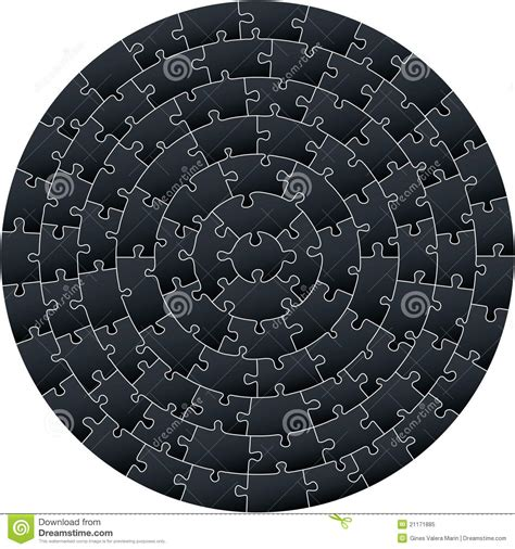 Circular Complex Puzzle Royalty Free Stock Photo Image Circular Jigsaw Puzzles