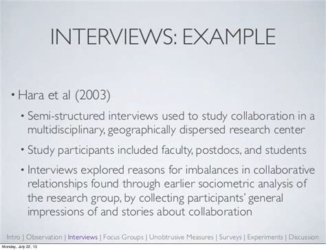 semi structured template research methods and the library professional