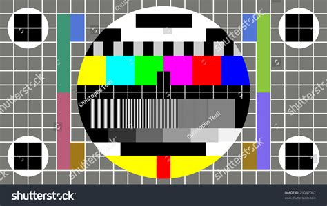 pattern test video test pattern for wide screen tv stock photo 29047087
