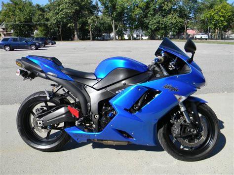 2008 Kawasaki Zx6r by 2008 Kawasaki Zx6r Blue Motorcycles For Sale