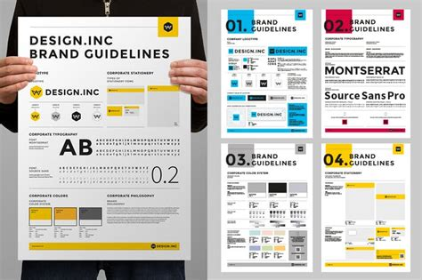 poster design guidelines brand manual poster by egotype on envato elements