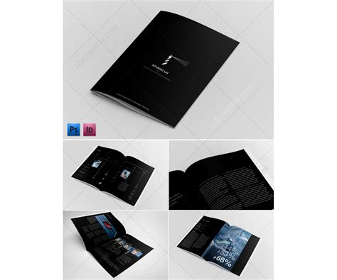 black brochure template annual report template pdf images
