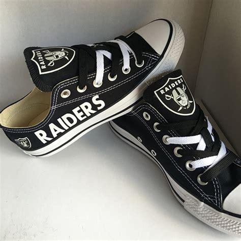 raiders sneakers oakland raiders handmade converse oakland raiders