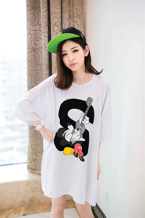 4653 Kaos Wanita Oreenjy Mickey Mouse kaos mickey mouse ukuran besar model terbaru jual murah import kerja